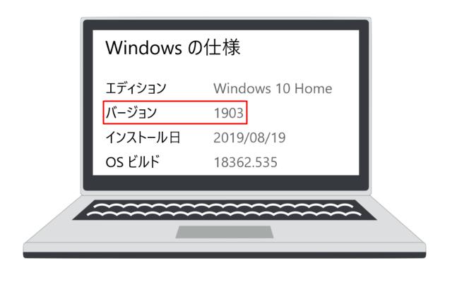 windowsのバージョン