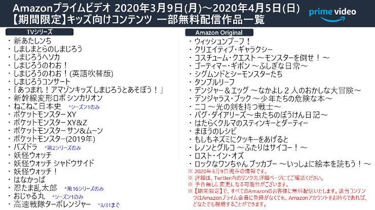 2020年3月プライムビデオ追加配信番組