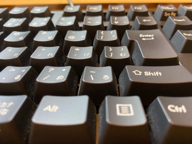 掃除前のキーボード