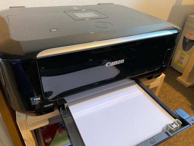 プランターとコピー用紙