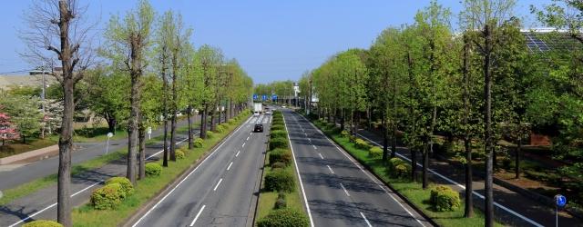 人通りの少ない道路