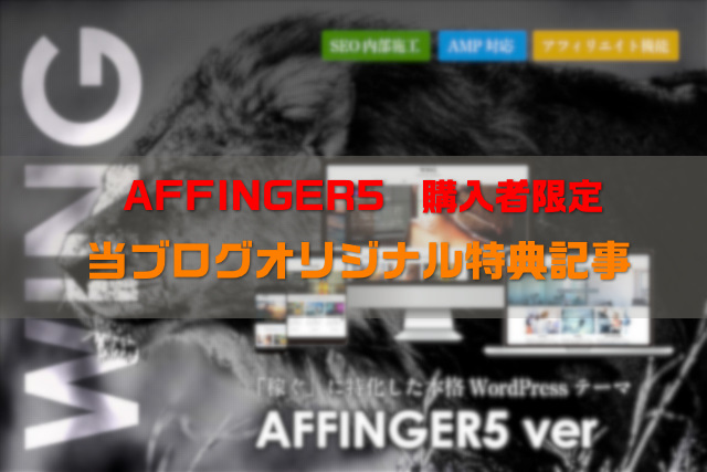 AFFINGER5限定特典