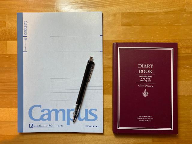 日記帳のサイズ