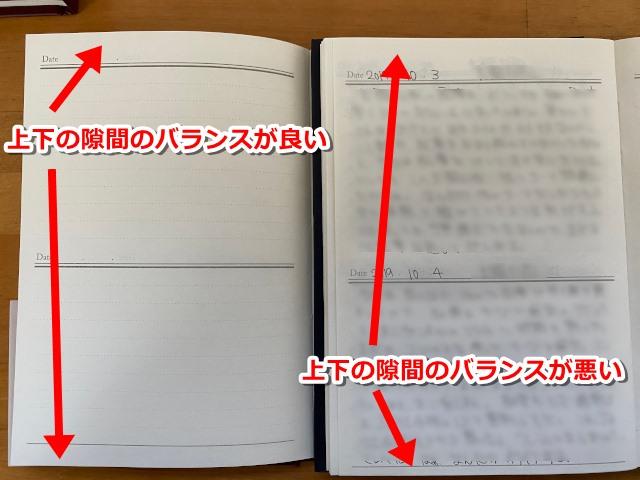 日記帳のズレ