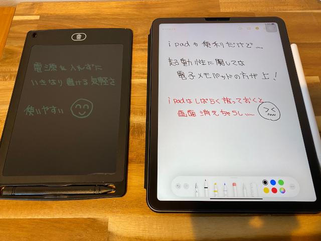 電子メモパッドとiPad