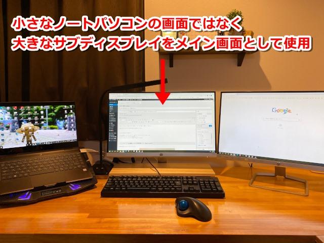 サブディスプレイをメイン画面として使用