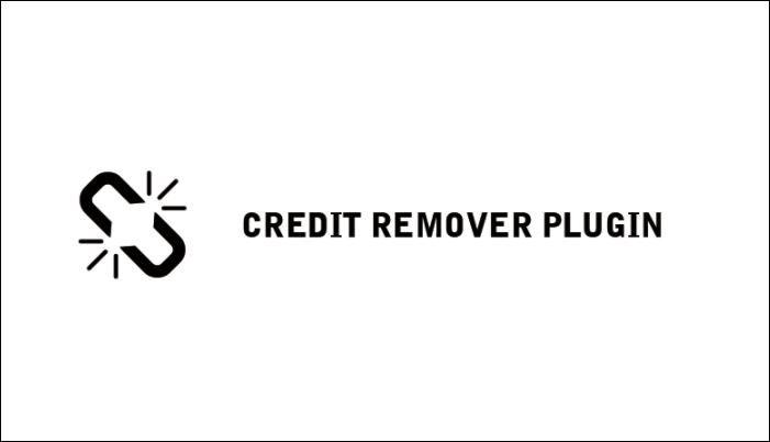 クレジット削除プラグイン
